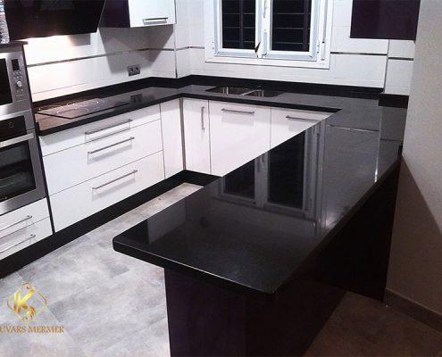 Sİyah Granit Mutfak Tezgahları Ataşehir