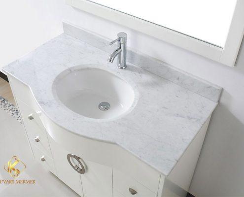 Beyaz Mermer Banyo Tezgahı İstanbul