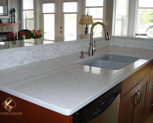 beyaz granit çimstone Mutfak Tezgahı beykoz