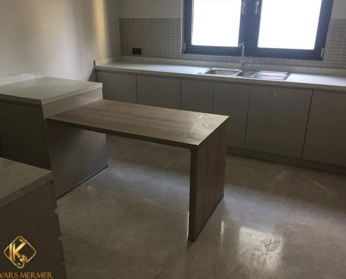 beyaz mutfak tezgahı maltepe