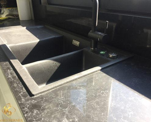 siyah mutfak tezgahı üsküdar